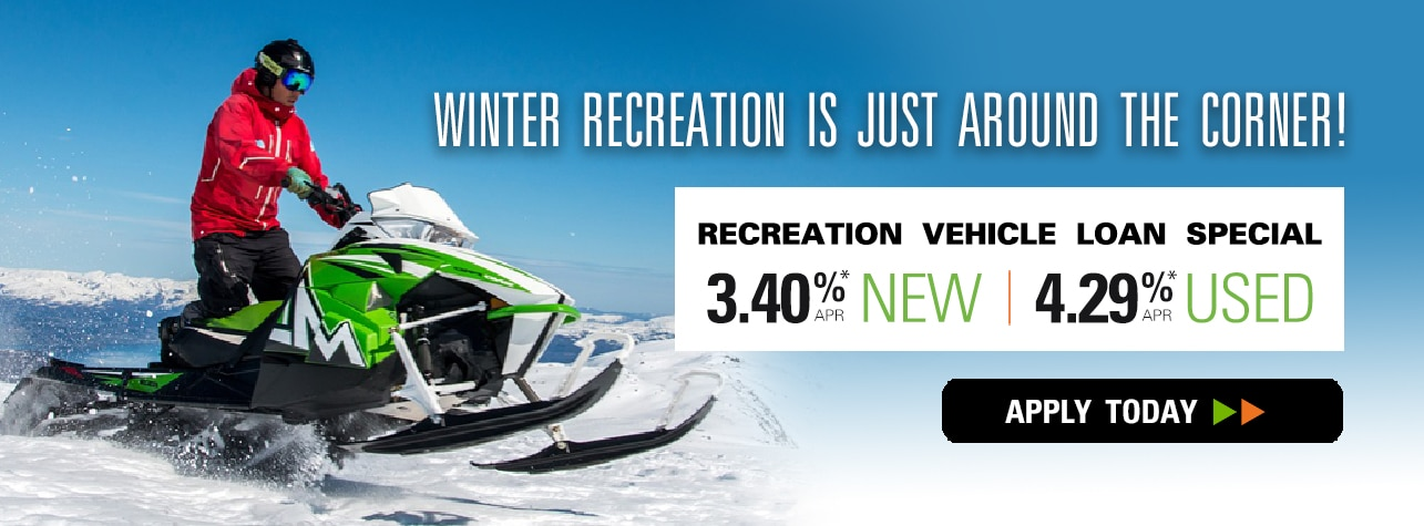 Recreation Vehicle Loan Special